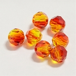 Fire Opal 6mm Swarovski Faceted Round, Pkg. of 12
